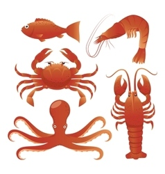 Sea food gastronomy vector image