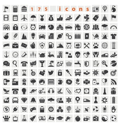 175 Web icons vector image