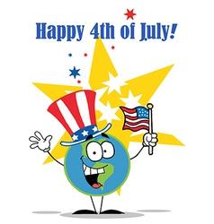 4th July cartoon vector