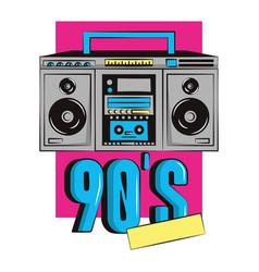 90s retro radio stereo vector