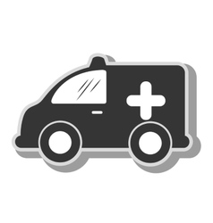 Ambulance minivan vehicle icon vector