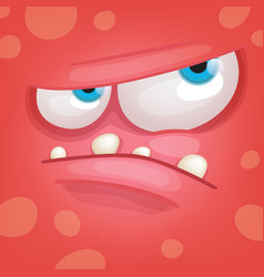 Angry monster face vector