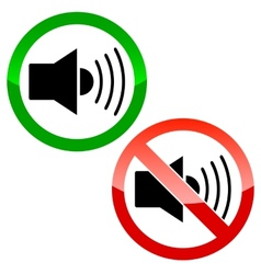 audio speaker icons vector image