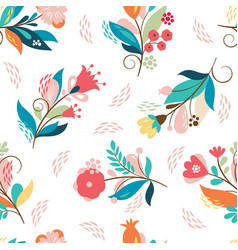 beautiful seamless pattern color whimsical flower vector image