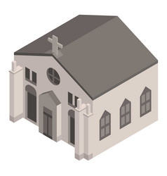 big house church icon isometric style vector image