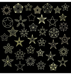 Big Set of Colorful Star Icons vector image