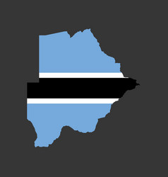 botswana flag and map vector image vector image