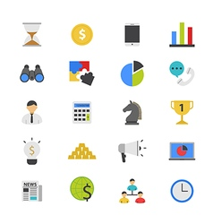 Business and Finance Strategy Flat Color Icons vector
