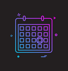 Calendar date point icon design vector