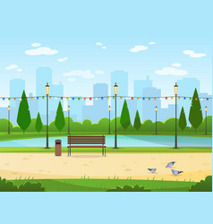 City park garden public nature park urban relax vector