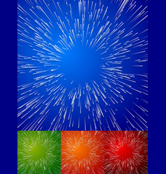 Colorful background with blast bursting effect vector