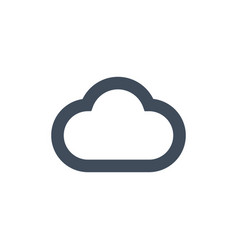 computing data cloud flat icon isolated on clean vector image