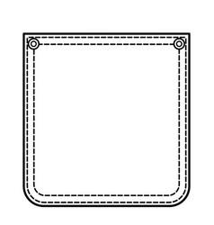 contour pocket vector image vector image
