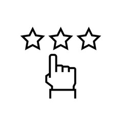 customer testimonials icon in thin line style vector image