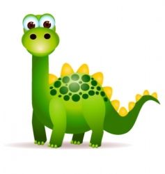 cute dino vector image