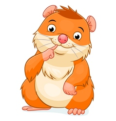 Cute hamster vector