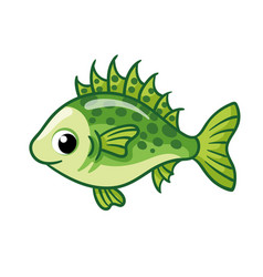 Cute ruff fish on a white background in cartoon vector