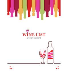 design wine list for restaurant bar or alcoholic vector image