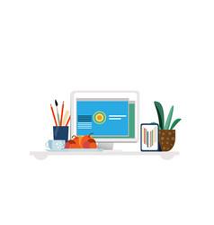 designer workplace concept vector image