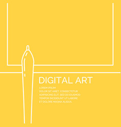 Digital art poster in a linear style vector