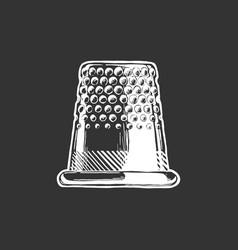 Drawing thimble vector
