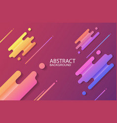 dynamic abstract colorful shapes trendy neon vector image