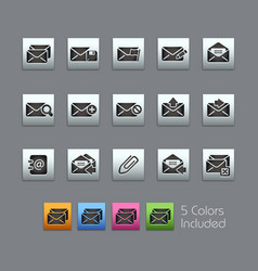 E-mail icons - satinbox series vector