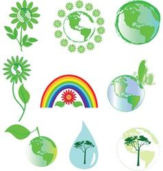 Environmental symbols vector