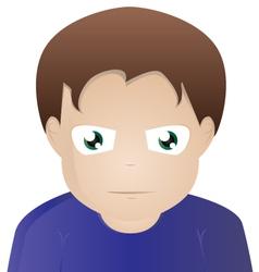 Face of a man vector
