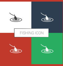 Fishing icon white background vector