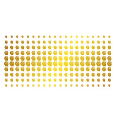 fist gold halftone grid vector image