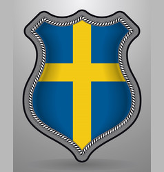 Flag sweden badge and icon vector