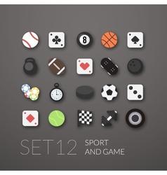 Flat icons set 12 vector