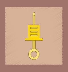 flat shading style icon kids syringe vector image