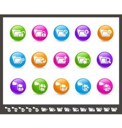 Folder Icons 1 of 2 Rainbow Series vector image
