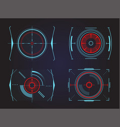Futuristic crosshair or aim radar or location vector