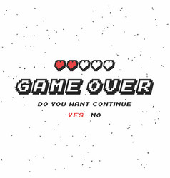 game over background vector image