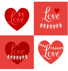 Holiday love lettering vector