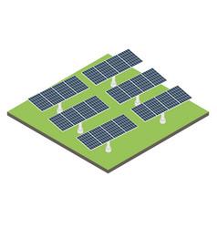 Icon isometric solar panel vector