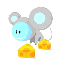 Icon mouse and cheese vector