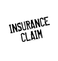Insurance Claim rubber stamp vector image