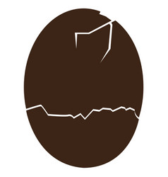 Isolated broken eggshell vector