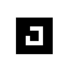 letter j logo icon design combined with square vector image