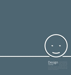 Logo of funny smile in minimal flat style line vector