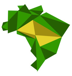 low poly style map of brazil vector image