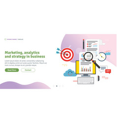 Marketing analytics and strategy in business vector