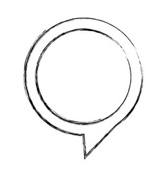 Monochrome sketch of circular speech with tail to vector