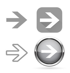 Next signs gray buttons and icons vector