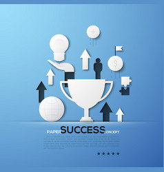 paper concept of success successful business vector image