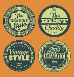pastel color vintage labels collection 3 vector image